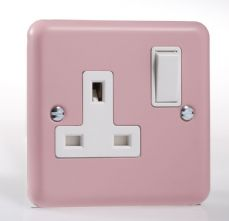 Varilight Pastel 1 Gang 13A Switched Socket Rose Pink XY4W.RP